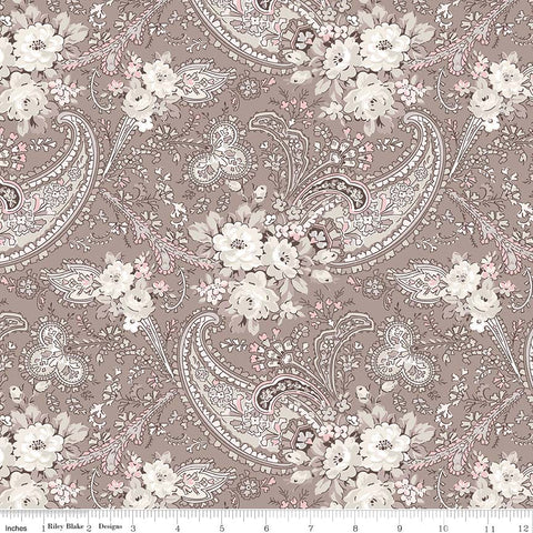 Rose Garden Taupe Paisley Print (C7681 Taupe)