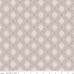 SALE - 5 YARD CUT!  Rose Garden Taupe Tile Print (C7682 Taupe)