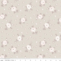 New! Rose Garden Taupe Toss Print (C7685 Taupe)