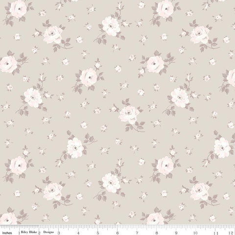Rose Garden Taupe Toss Print (C7685 Taupe)