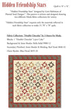 """Hidden Friendship Stars"" PDF Quilt Pattern"