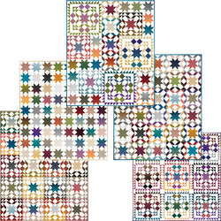 "NEW! ""Gem Stones Star Sampler"" PDF Quilt Pattern"