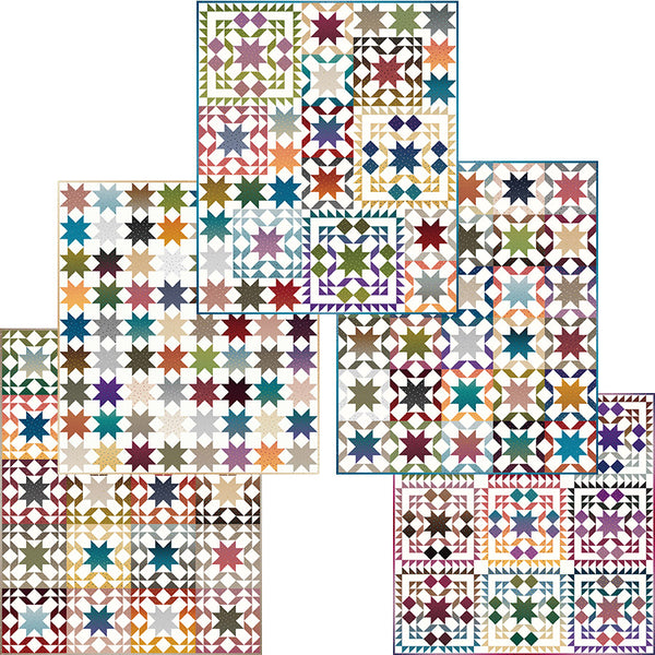 COMING SOON! Gem Stones Star Sampler Quilt Pattern (PSD2-007)