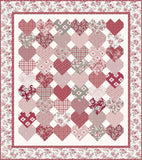 Stacked Hearts Quilt Pattern (PSD-436P)