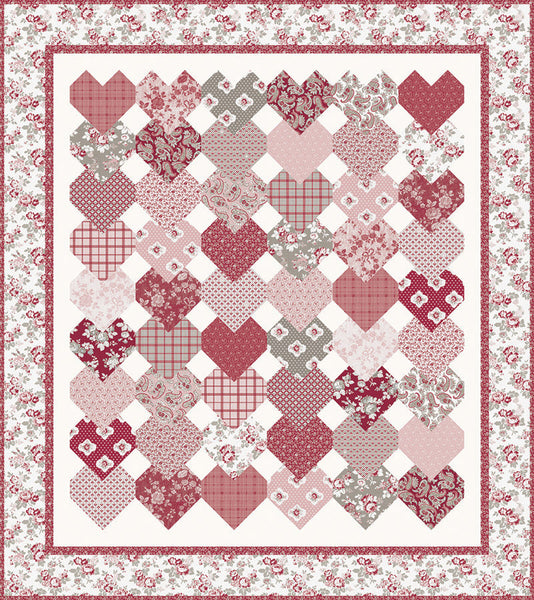 "NEW! ""Stacked Hearts"" PDF Quilt Pattern"
