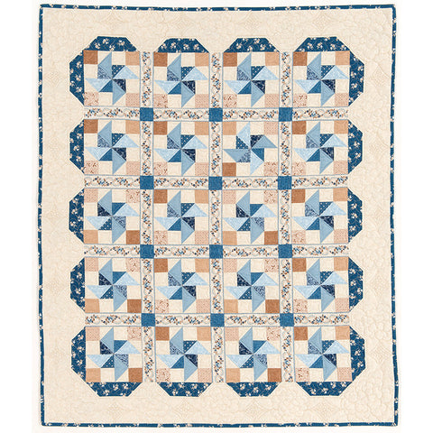 """Pinwheel Lattice"" PDF Quilt Pattern"