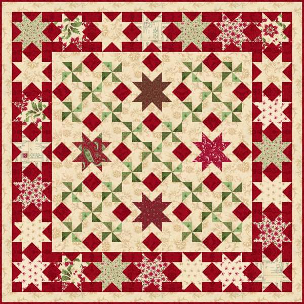 """Holiday Stars"" PDF Quilt Pattern"