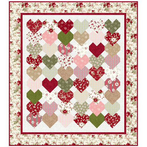 """Stacked Hearts"" PDF Quilt Pattern"