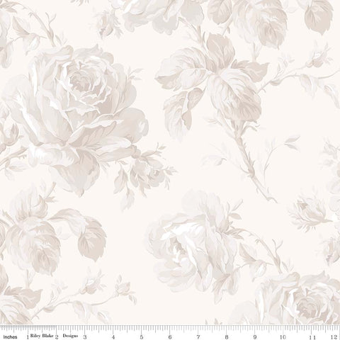New! Rose Garden Wideback Cream Floral Print (WB7688 Cream)