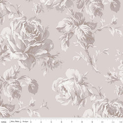 New! Rose Garden Wideback Taupe Floral Print (WB7688 Taupe)