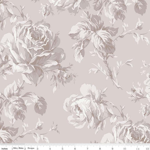 "Rose Garden 108"" Wide Back Taupe Print (WB7688 Taupe)"