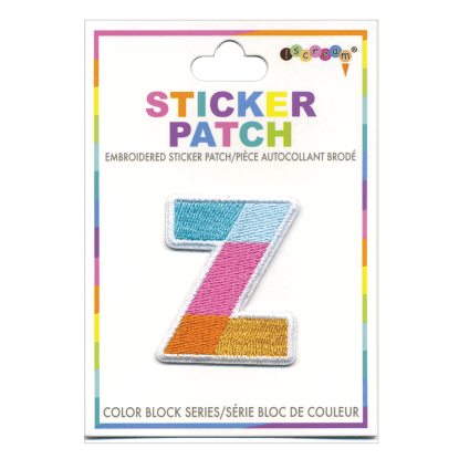 """Z"" Color Block Sticker Patch"