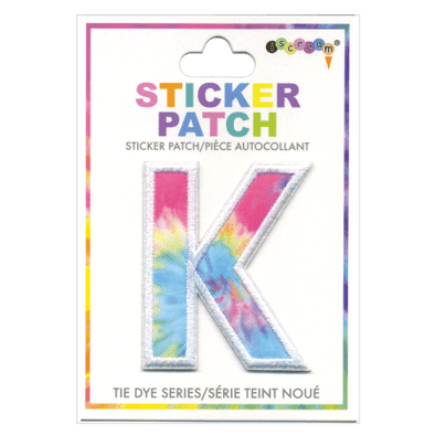 """K"" Tie Dye Sticker Patch"
