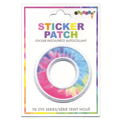 """O"" Tie Dye Sticker Patch"