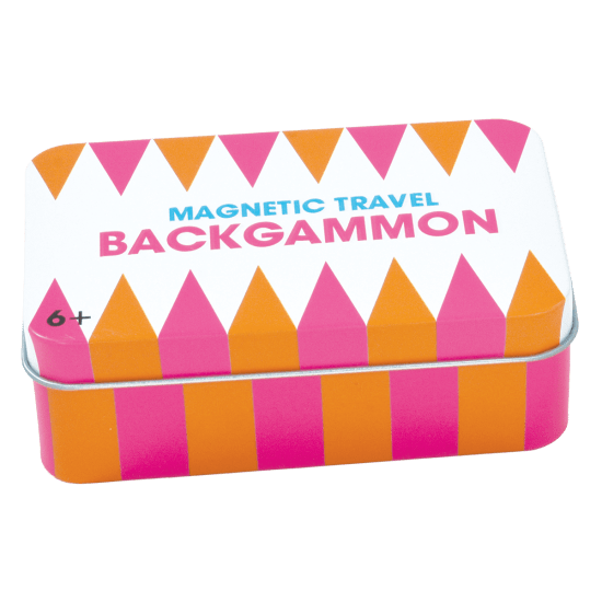 Backgammon Magnetic Tin Travel Game