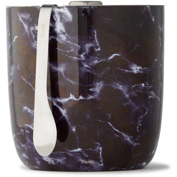 68 OZ Ice Bucket Black Marble