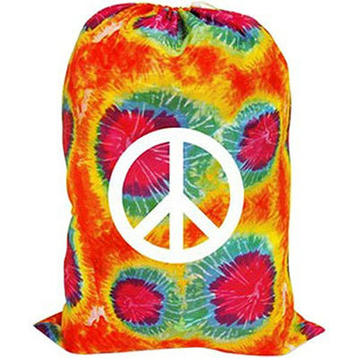 Tie Dye Peace Sign Laundry Bag