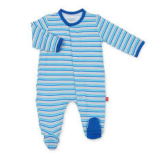 Blue Stripe Globetrotter Modal Magnetic Footie