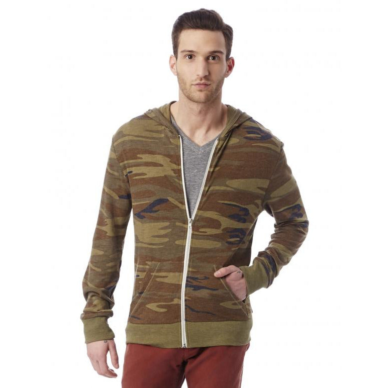 Alternative Camo Eco Jersey Hooded Full Zip Hoodie