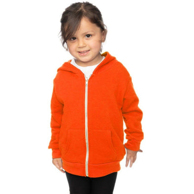 Toddler Fleece Neon Zip Hoody