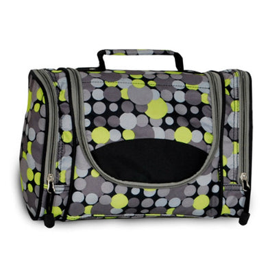Deluxe Toiletry Bag Yellow/Grey Dot