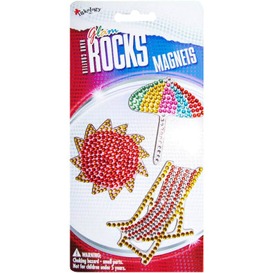 Glam Rocks Beach Magnets