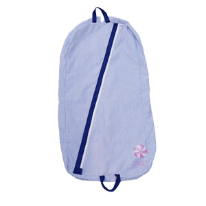 Light Blue Seersucker Baby Garment Bag