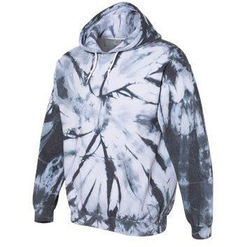 Tye dye hood Blended Black