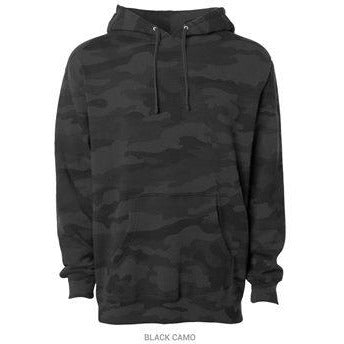 Black Camo Pullover Hoodie