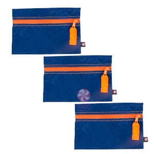 Navy & Orange Cosmetic Bag