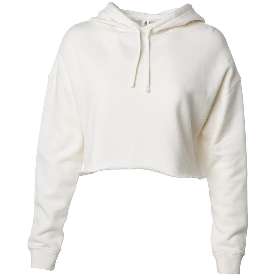 lightweight cropped hooded sweatshirt