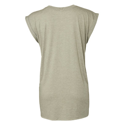 Bella + Canvas Women's Flowy Muscle Tee w/Rolled Cuffs