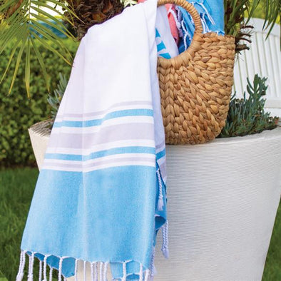 Blue Turkish Beach Towel