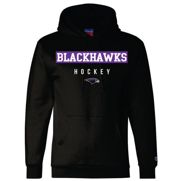 BHHS Hockey Black Champion Pullover Hood