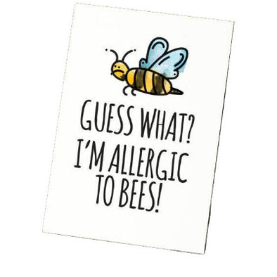 Bee Allergy Camp Card