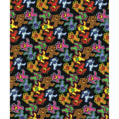 Grateful Dead Dancing Bears Jumble Throw Blanket