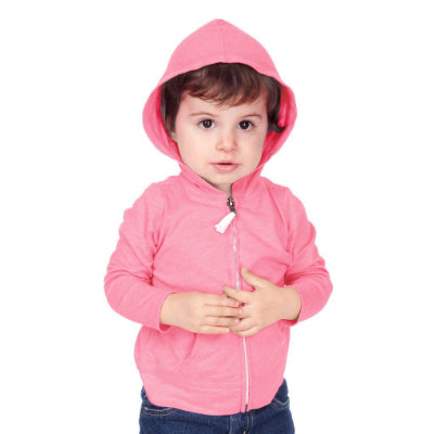 Unisex Infant Jersey L/S Zip Up Hoodie