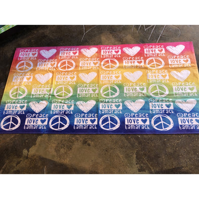 girls custom tamarack towel peace love
