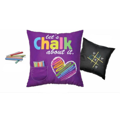 Lets Chalk About It Pillow