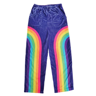 Rainbow Plush Pants