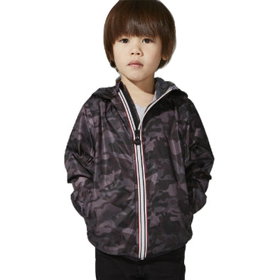 Kids Full Zip Printed Packable Jacket