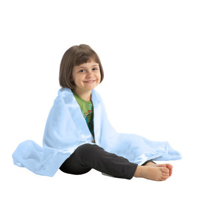 Satin Trim Microfleece Baby Blanket