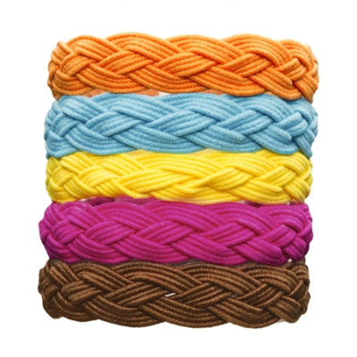 L. Erickson Braided Ponytail Holder 5-Pack