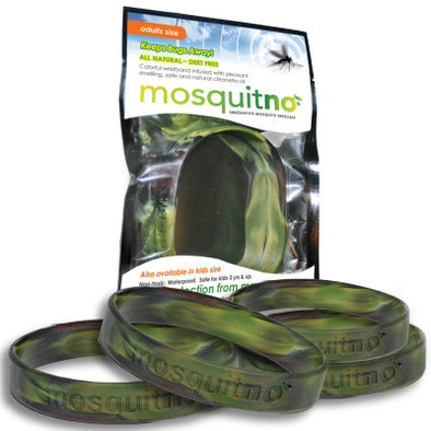 Mosquitno Repellent Large Wristband Camo 5 Pack