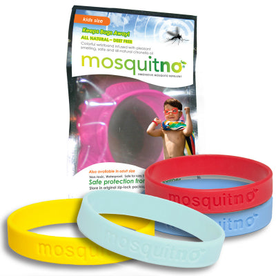Mosquitno Repellent Large Wristband Light Colors 5 Pack