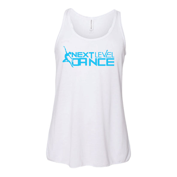 Next Level White (T) Youth Flowy Racerback Tank