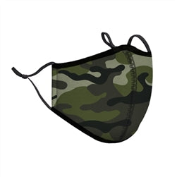 Green Camo Face Mask Adult Large