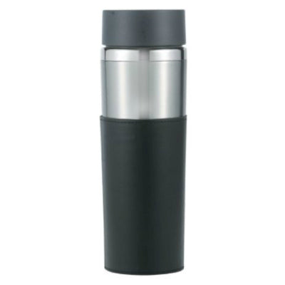 Astor Stainless Tumbler w/Leather Sleeve 14oz