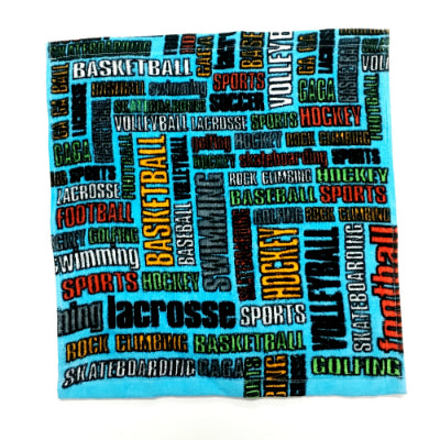 Sports Graffiti Washcloth Set