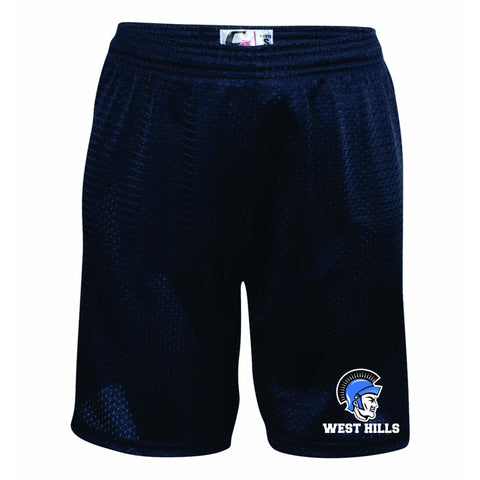 West Hills Middle School Navy Mesh Shorts